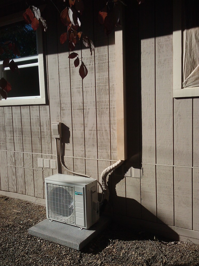 sacramento homeowner install daikin ductless mini split. Black Bedroom Furniture Sets. Home Design Ideas